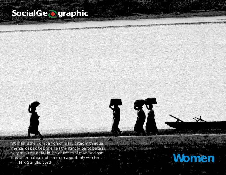 SocialGe                  graphic     Woman is the companion of man, gifted with equal mental capacities. She has the righ...