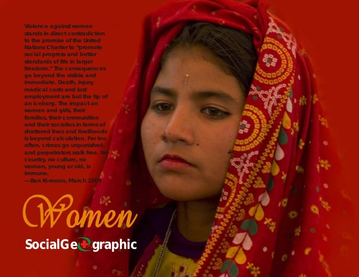"""Violence against women stands in direct contradiction to the promise of the United Nations Charter to """"promote social prog..."""