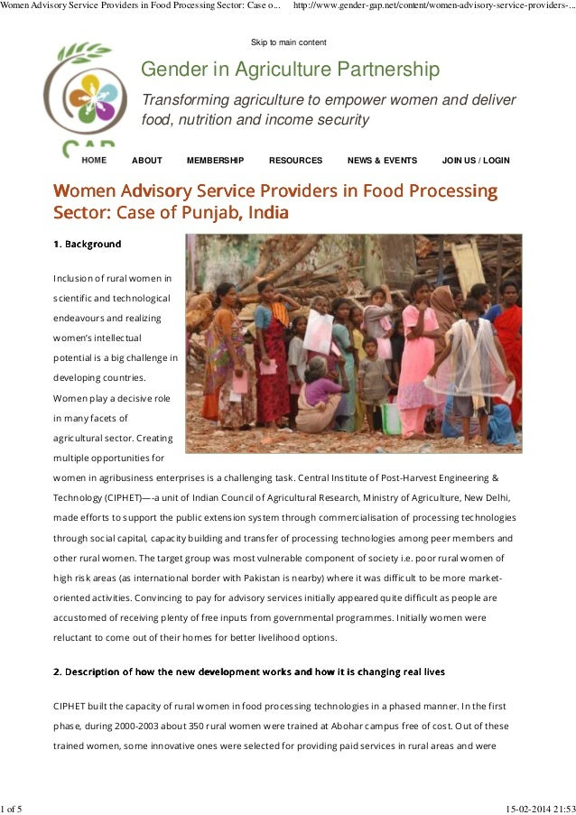 Gender in Agriculture Partnership Transforming agriculture to empower women and deliver food, nutrition and income securit...