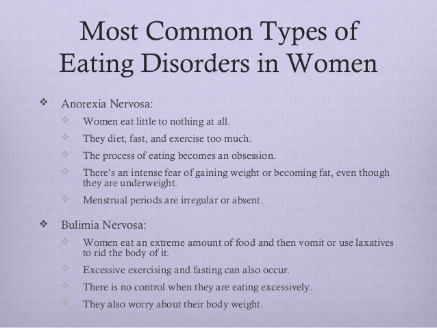 a discussion about different types of eating disorders Learn more about eating disorders and why they are serious and sometimes fatal  illnesses get facts about the different types of eating disorders and statistics  about who suffers from them  feeling down talk to a trained crisis counselor.