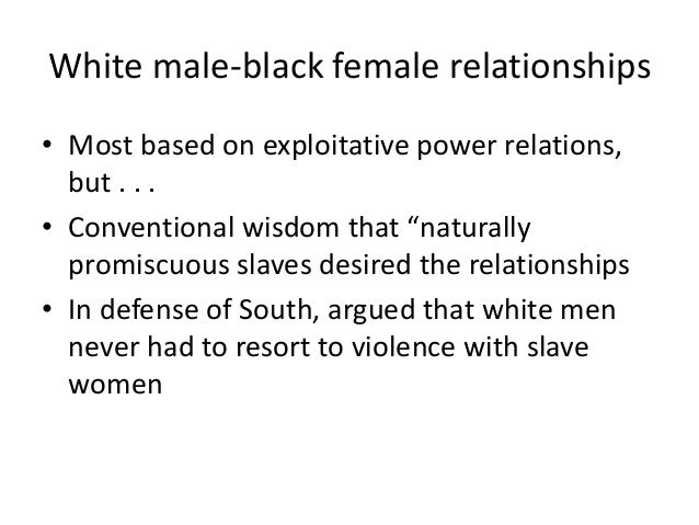 Black male and female relationships