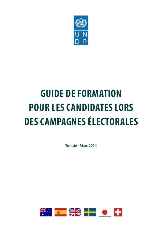 Guide de formation pour les candidates lors des campagnes électorales Slide 2
