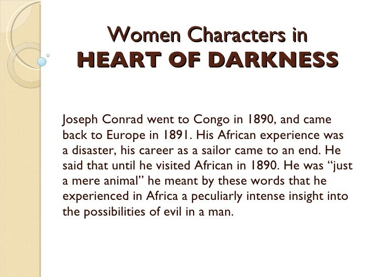 the heart of darkness character analysis Everything you ever wanted to know about the characters in heart of darkness, written by experts just for you.