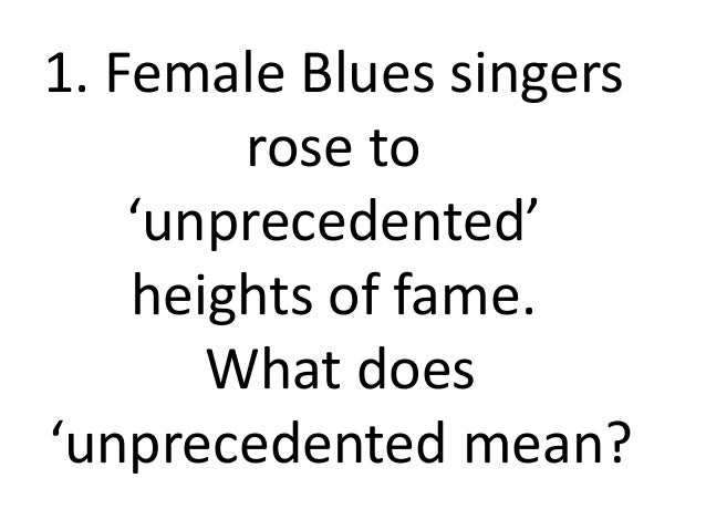 Women don't have the blues