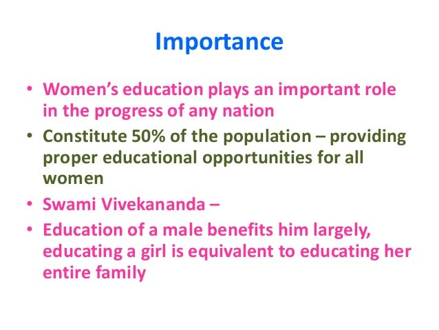 Essay on importance of female education