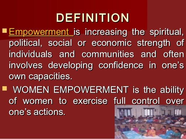 Elegant DEFINITION Empowerment ...