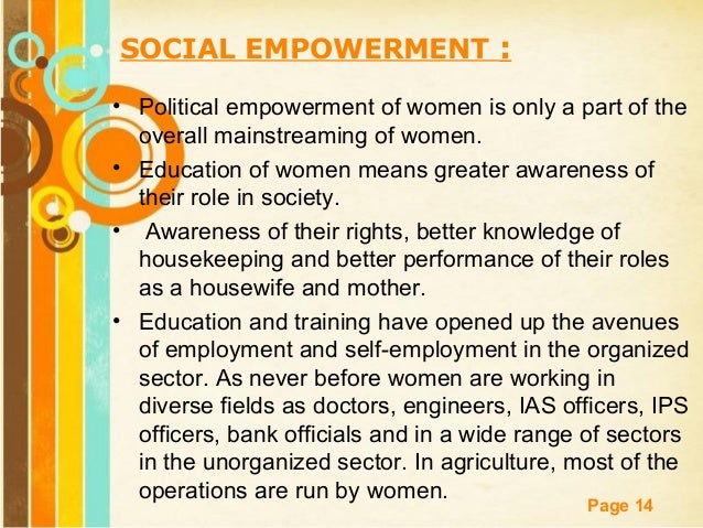 an essay on empowerment of women
