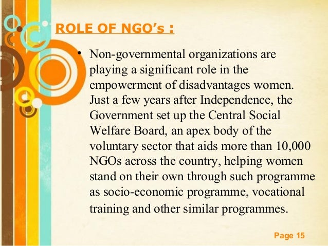 The rise and role of NGOs in sustainable development