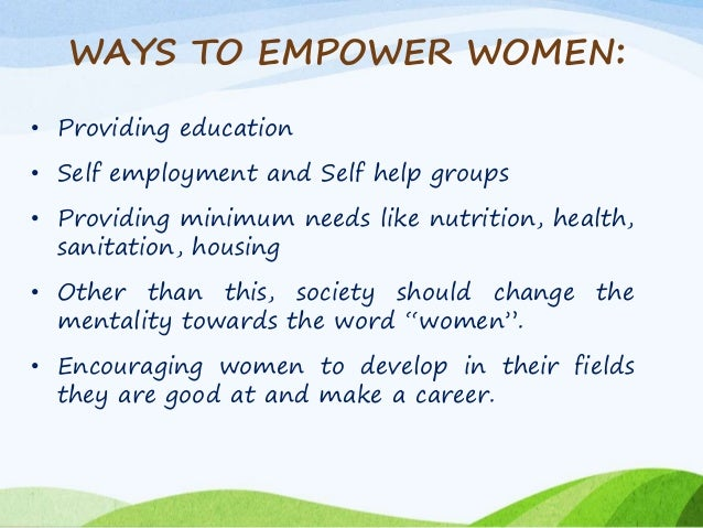 Advantages of empowering women