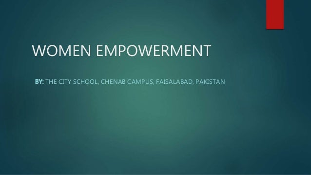 Women Empowerment in Pakistan