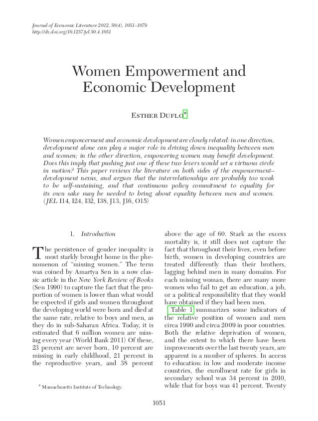 why is women empowerment important
