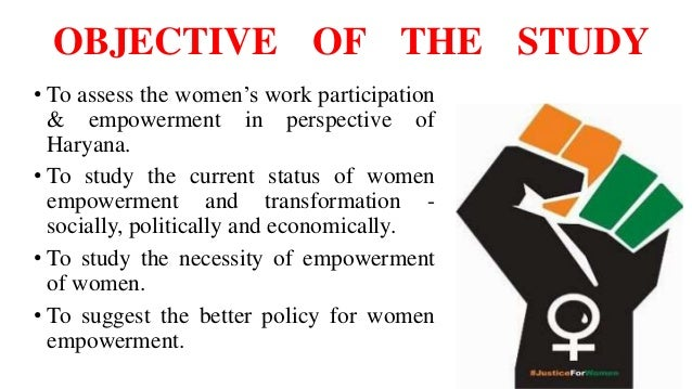 women empowerment research paper Facts and figures: economic empowerment benefits of economic empowerment when more women work, economies grow an increase in.