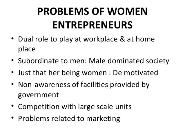 Women takes on the role of entrepreneurs