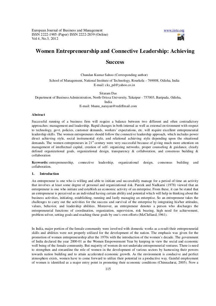 how women entrepreneurs lead and why Gender in management: an international journal emerald article: how women entrepreneurs lead and why they manage that way dorothy perrin moore, jamie l moore, jamie w moore.