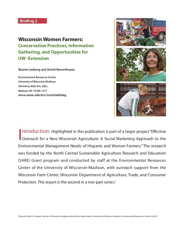 Sharon Lezberg and Astrid Newenhouse Environmental Resources Center, University of Wisconsin-Madison 445 Henry Mall, Rm. 2...