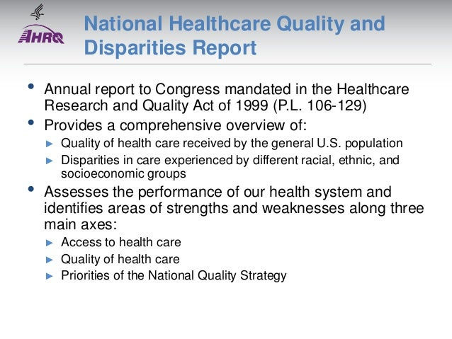 summary the health care quality book The quality of health care in america committee of the institute of medicine (iom) concluded that it is not acceptable for patients to be harmed by the health .