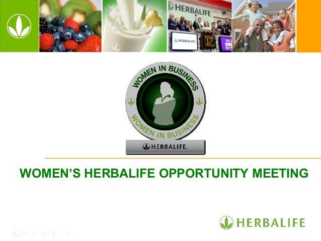 WOMEN'S HERBALIFE OPPORTUNITY MEETING