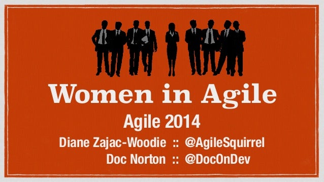 Women in Agile Agile 2014 Diane Zajac-Woodie :: @AgileSquirrel Doc Norton :: @DocOnDev