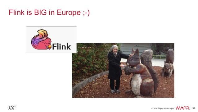 ® © 2016 MapR Technologies 34® © 2016 MapR Technologies 34 Flink is BIG in Europe ;-)