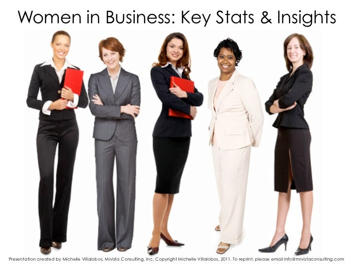 Women in Business: Key Stats & InsightsPresentation created by Michelle Villalobos, Mivista Consulting, Inc. Copyright Mic...