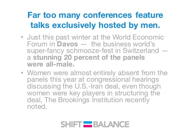 In Sweden and Norway, male speakers are now refusing to participate in conferences and panel discussions without female re...