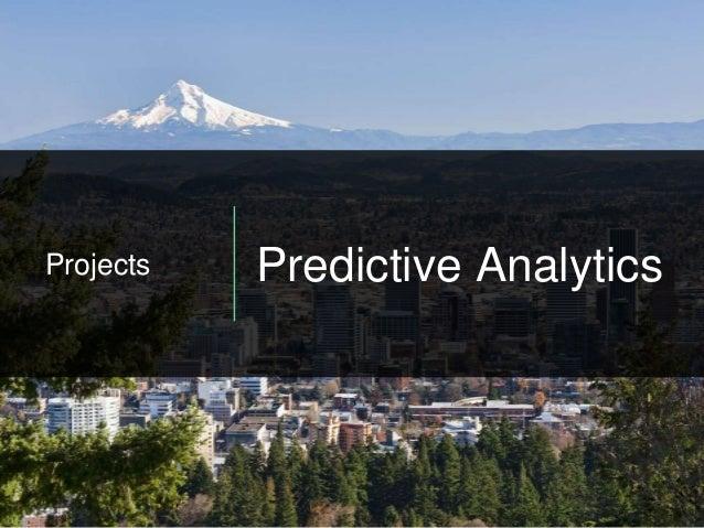 Projects Predictive Analytics