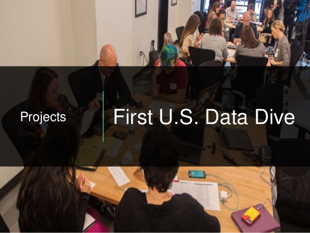 Projects First U.S. Data Dive
