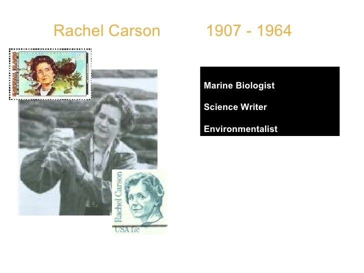 """Rachel Carson  1907 - 1964 Marine Biologist Science Writer Environmentalist   QUOTE: """" It is a wholesome and necessary thi..."""