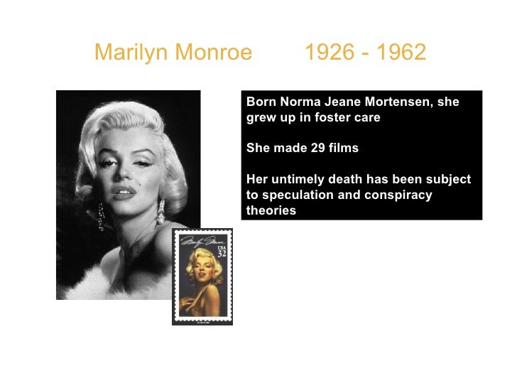 """Marilyn Monroe  1926 - 1962 QUOTE: """" I don't know who invented high heels, but all women owe him a lot. """" Born Norma Jeane..."""