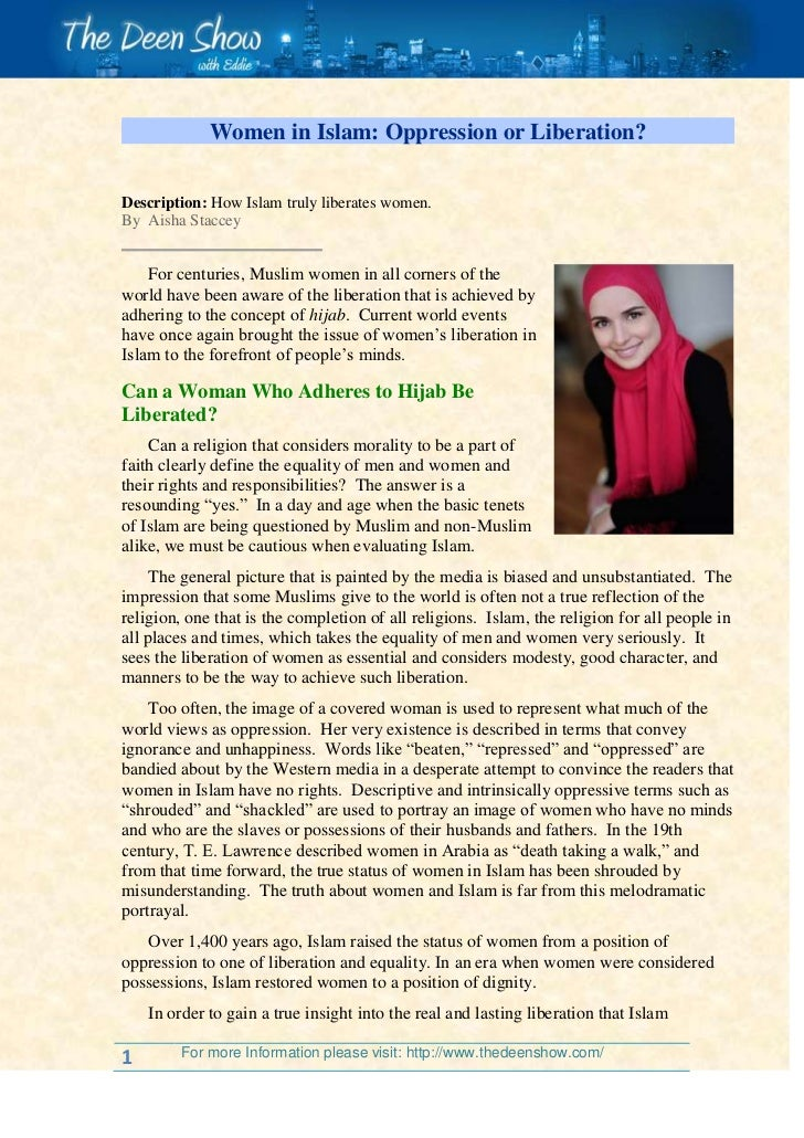 Women in Islam: Oppression or Liberation?<br />     Description: How Islam truly liberates women.By  Aisha StacceyFor cent...