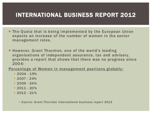 International Business Report