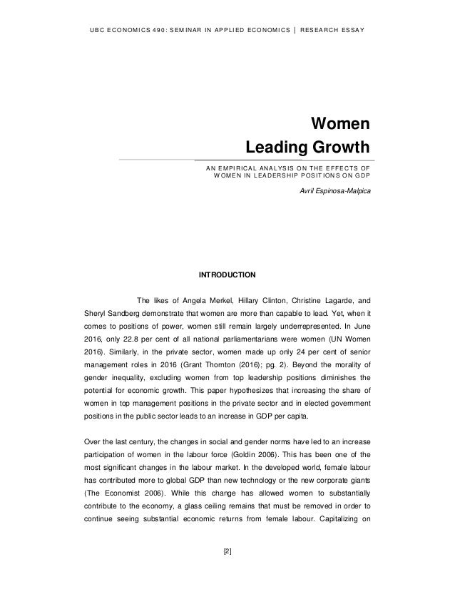 Analysis of womens effects of the