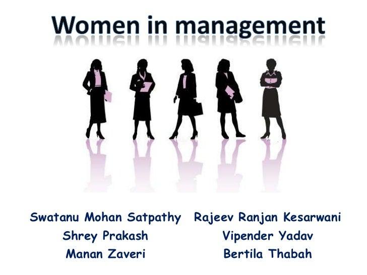 Women in management<br />