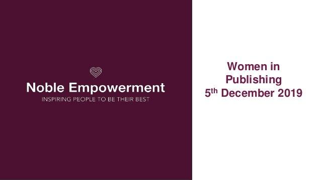 Women in Publishing 5th December 2019