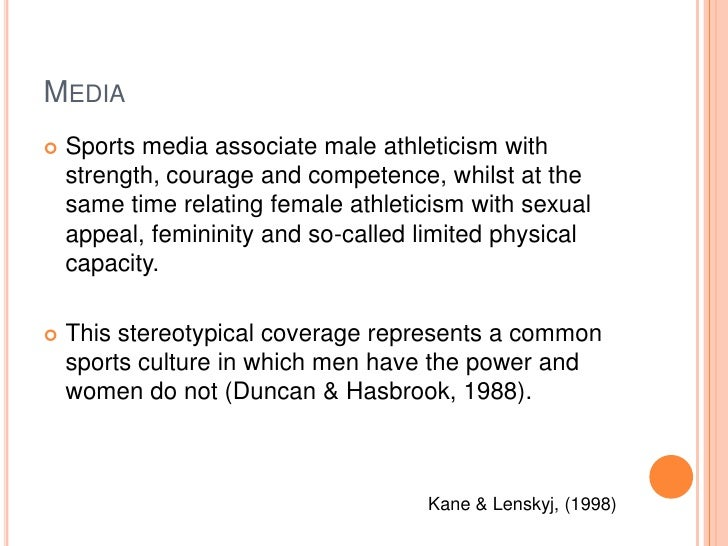 media coverage of male and female sports