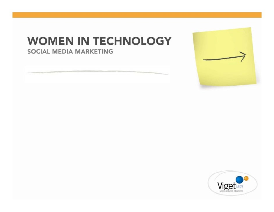 WOMEN IN TECHNOLOGY SOCIAL MEDIA MARKETING