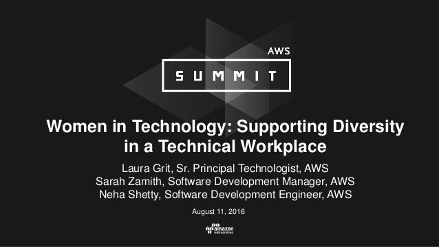 Women in Technology: Supporting Diversity in a Technical Workplace August 11, 2016 Laura Grit, Sr. Principal Technologist,...