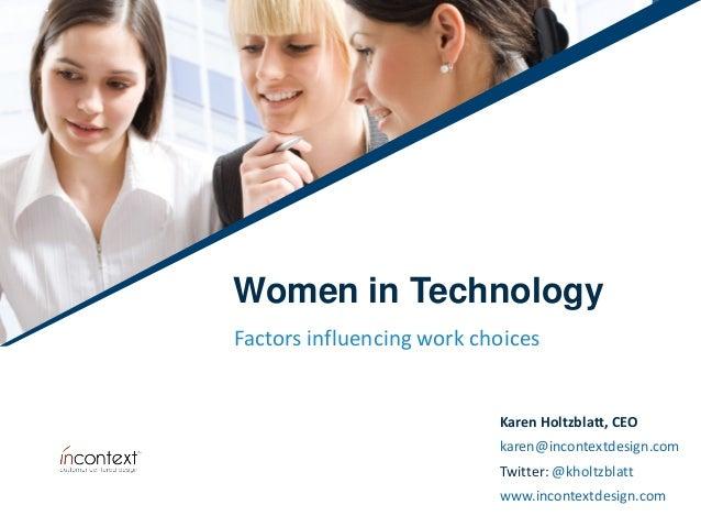 Karen Holtzblatt, CEO karen@incontextdesign.com Twitter: @kholtzblatt www.incontextdesign.com Karen Holtzblatt, CEO karen@...