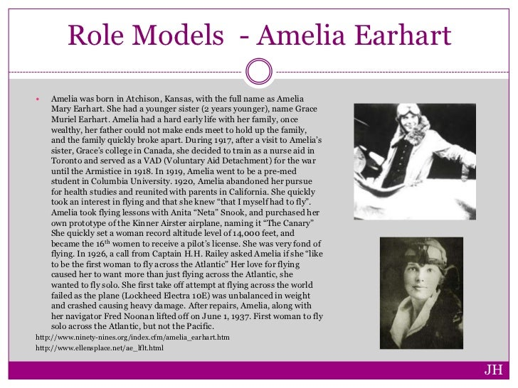 amelia earhart thesis statement