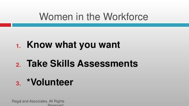 women in the workforce workshop identifying life skills to enhance