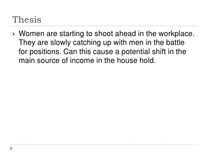Women in the workplace Slide 2