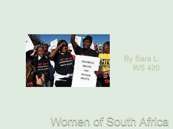 Women of South Africa<br />By Sara L. WS 420<br />
