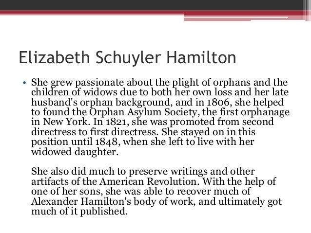 Women of the American Revolution - Elizabeth Schuyler Hamilton