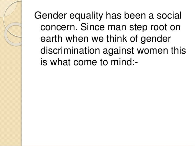 an introduction to the importance of gender equality in todays society This essay will reflect the importance of diversity in the society  importance of diversity in our  this issue gender is of great importance to be.