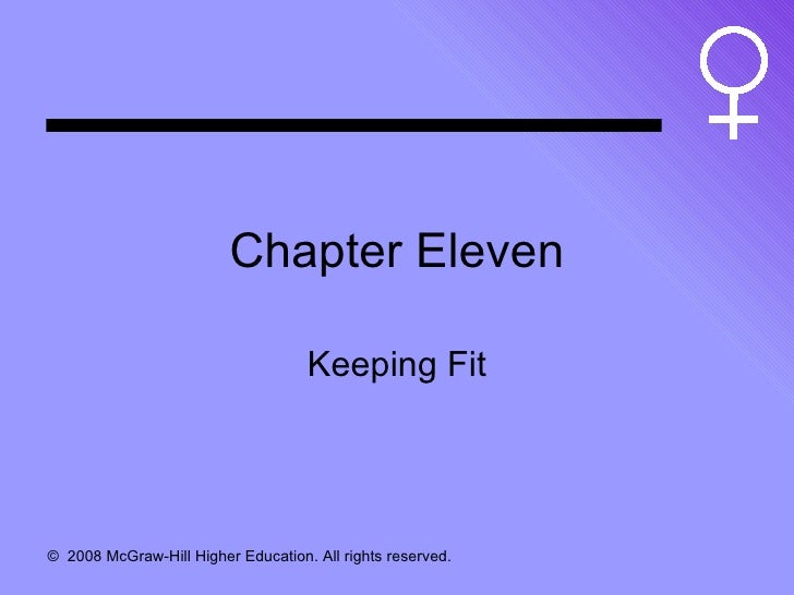 Chapter Eleven Keeping Fit