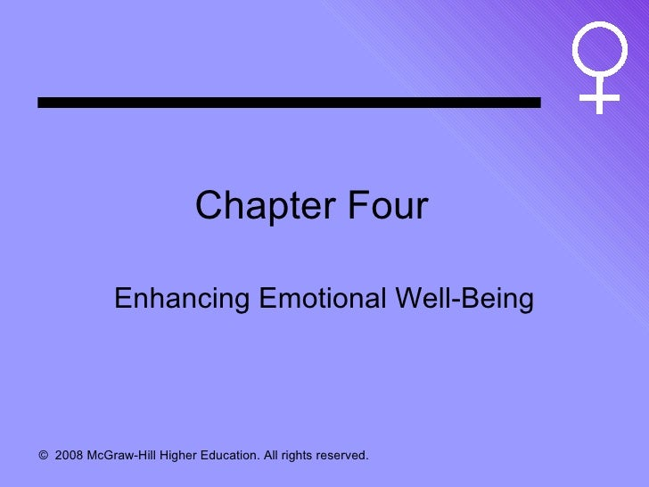 Chapter Four Enhancing Emotional Well-Being