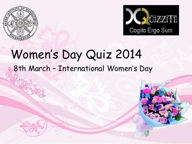 Women's Day Quiz 2014 8th March – International Women's Day