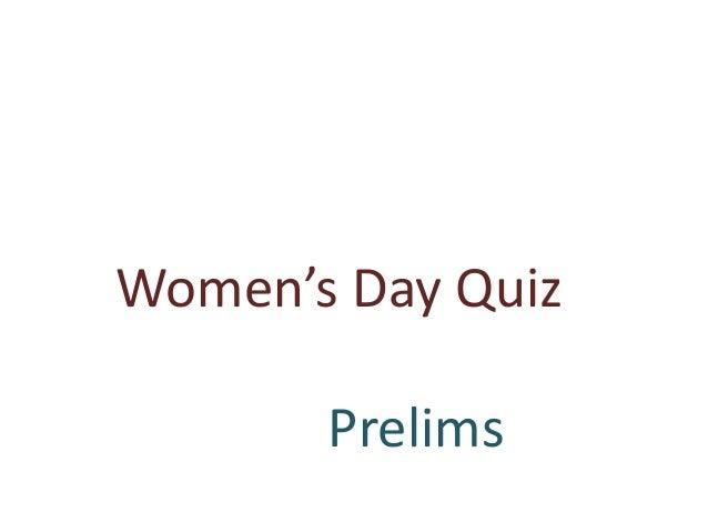 Women's Day Quiz Prelims