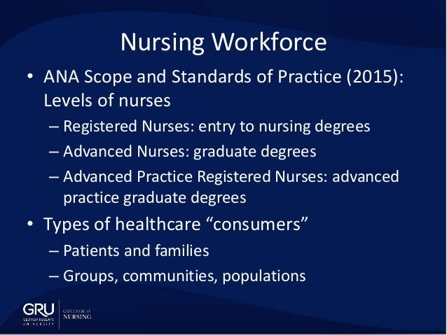 ana scope and standards of practice Addictions nursing: scope and standards of practice co-published with the international nurses society on addictions and ana this new edition contains up-to-date information on this dynamic specialty that applies a holistic approach employing biological, psychological, social, and spiritual factors to provide treatment to patients who are .