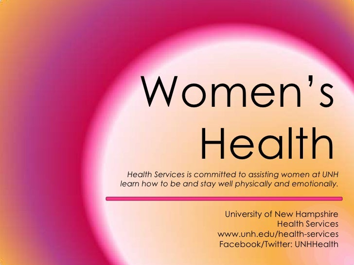 About Women's Health at UNH
